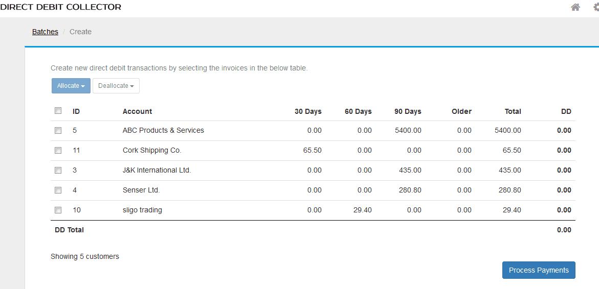 DD Collector balances